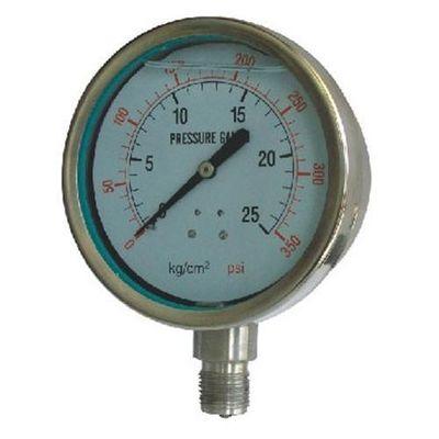 Gute Qualität Edelstahl Edelstahlmanometer für Maß des Drucks vieler Arten ätzende flüssige Medien Ventes