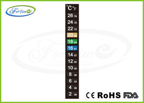 Am besten Hohe Präzisions-wärmeempfindliche Farbändernder Thermometer-Streifen für Maß-Raumtemperatur