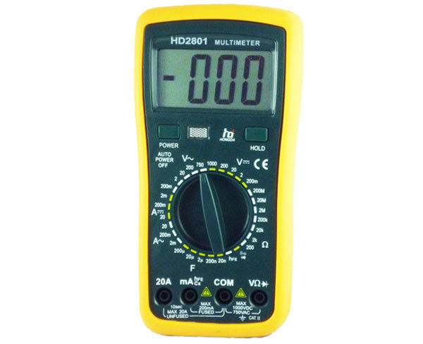 Sound Light Alarm autoranging digital multimeter Ohm Voltmeter Ammeter