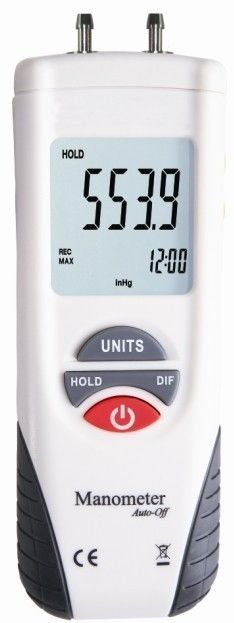 Low Battery Display Industrial Electronic Digital Manometer For Petrochemicals