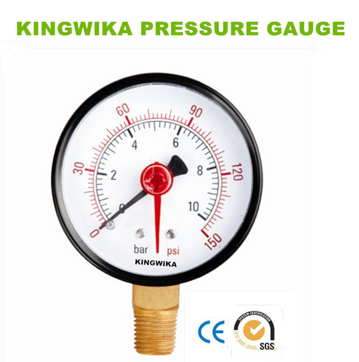 double pointer steel pressure gauge